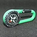 Outdoor Portable Plastic Carabiner Compass - Green