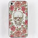 Roses Skulls Hard Glue Edge Grinding Case for iPhone 4/4S