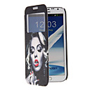 Sexy Woman Pattern Full Body Case with Window for Samsung Note2(N7100)