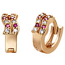 Classic Alloy With Cubic Zirconia Womens Stud Earrings(1 pair)(Gold,Silver)