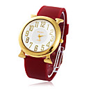 Womens  Water-Resistant Silicon Band Quartz Dress Watch