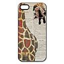 Giraffe Pattern Plastic Hard Case for iPhone 5/5S
