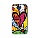 Romero Britto Cat Dog Love Art Pattern Plastic Hard Case for iPhone 5/5S