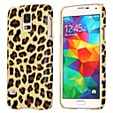 Leopard Pattern Leather Coated Hard Case Cover for Samsung Galaxy S5