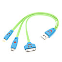 Universal Smile Face USB 3 in 1 Cable (Assorted Color)