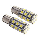 2PCS BAY15D 1156 27 SMD 5050 Tail LED extra Turn Signal de lumière blanche 12V