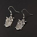 Cute Owl Silver Alloy Earrings(1 Pair)