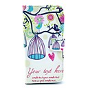 Bird and Birdcage Owl Pattern PU Leather Case Cover with Stand for LG Google Nexus 5 E980