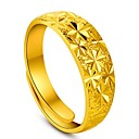 Flowers Secret 14k Yellow Gold Plated Placer Classic Starry Adjustable Womens Ring NEVER FADE GOLD QUALITY