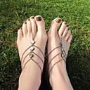 Classic Shell Tassels Alloy Barefoot Sandal(Golden,Silver)(1 Pc)