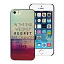 Elonbo J1C Classic Quotations Design Style Hard Back Case Cover  for iPhone 5/5S