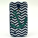 The Wave Leopard Anchor Pattern Hard Back Cover Case for Samsung Galaxy S4 Mini I9190