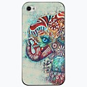 The Elephant Coloured Drawing Or Pattern Design PC Hard Case for iPhone 4/4S