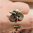 Retro Red Diamond Owl Opening Fashion Ring