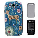 Sika Deer Pattern PC Hard Battery Back Cover Housing for Samsung Galaxy S3 i9300
