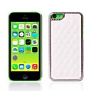 Grid Pattern PU Leather Case for iPhone 5C (Assorted Colors)