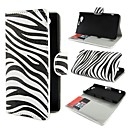 Stylish Zebra Stripes PU Leather Wallet with Stand Cover Case for Sony Xperia Z1 mini Compact D5503