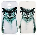 Angry Owl Pattern PU Leather Full Body Case for Samsung Galaxy S5 I9600