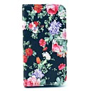 Black Rose Flower Pattern PU Leather Case with Money Holder Card Slot for Samsung Galaxy S3 I9300