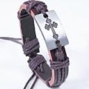 Fashion Cross Wax Rope Bracelet