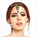 European Crown Multicolor Gem Hairpins For Women(Green)(1 Pc)