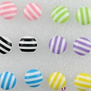 multicolor-stripe-round-ball-stud-earrings-mix-color6color