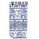 Elephant Tribal Carpet Pattern Full Body Leather Case with Card Holder for iPhone 5C