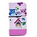 Owl Family Pattern PU Full Body Case with Card Slot for Motorola MOTO X