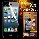 Protective HD Front  Back Screen Protector for iPhone 5/5S(5PCS)