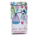 Bird and Birdcage Owl Pattern PU Leather with Stand Case Cover for Sony Xperia Z1 Mini Compact D5503