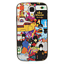 Cartoon Characteristics Pattern Detachable Plastic Soft Back Case Cover for Samsung Galaxy S4 I9500