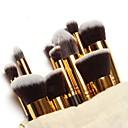 10pcs Pinceles de maquillaje Profesional Sistemas de cepillo / Cepillo para Colorete / Pincel para Sombra de Ojos Pincel de Nylon Portátil / Viaje / Ecológica Madera