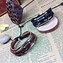 BaoGuangPunk Style Multilayer Charms Handmade Leather Bracelets(Assorted Colors)