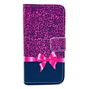 Leopard Bow Pattern PU Leather with Stand Case Cover for Sony Xperia Z1 Mini Compact D5503