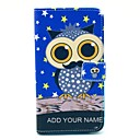 Star Space Owl Pattern PU Leather Case with Stand Card Holder for Samsung Galaxy Note3 N9000