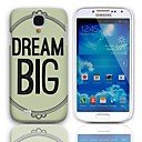 Dream Big Design Hard Case with 3-Pack Screen Protectors for Samsung Galaxy S4 mini I9190