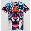 Mens Round Collar Short Sleeve Hip Hop T Shirt