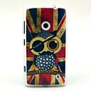 Retro UK National Flag Owl Pattern TPU Soft Case for Nokia Lumia N520