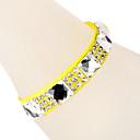 Glass Diamond Ribbon Yellow Bracelet