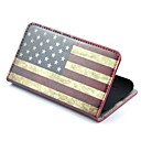 USA Flag Pattern PU Leather with Stand Full Body Case Cover for LG L7 II  P715 Optimus