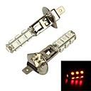 Merdia  H1 3.9W 156LM 13x5050SMD LED Red Light Car Fog Light / Headlamp (Pair/12V)