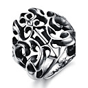 Cool Personality Domineering Punk Hollow-Out The Cross Titanium Steel Foundry Mens Ring
