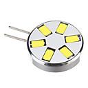 G4 1.5W 6x5730SMD 280LM 6000K Cool White Light LED Spot Bulb (12V)