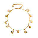Classic Hollow-out Anti War Symbol Women Golden Alloy Anklets(26.5cm1.3cm0.6cm) (1 Pc)