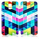 Colorful Geometric Pattern PU Leather Full Body Case for Samsung Galaxy S5 I9600