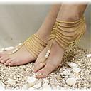Vintage Tassels Pearl Alloy Barefoot Sandal(1 Pc)