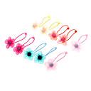 Kids Fabric Flower Hair Ties Hair Jewelry(Random Color)