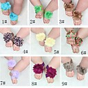 BaoGuangHot Baby girls Barefoot Sandals Shoes Flower PreWalker Infant Toddler Shoes Foot Ties NO.6(Assoeted Colors)