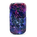 Shining Star Space with Letter Pattern Soft Back Cover Case for Samsung Galaxy S3 Mini I8190