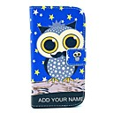 Owl on The Stars Pattern PU Leather Full Body Case with Card Slot Stand for Moto G